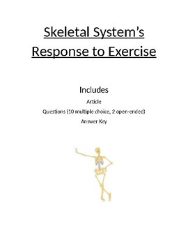 How Exercise Affects the Skeletal System