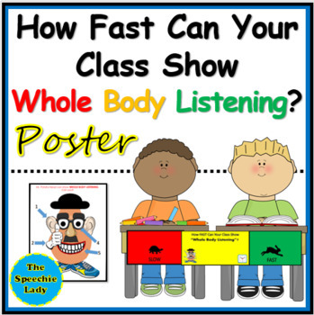 "How FAST can your class show ""Whole Body Listening""? [POSTER]"