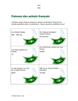 How French people mark prices