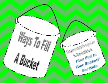 How Full Is Your Bucket? Writing Graphic Organizer