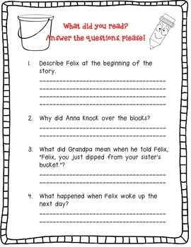 How Full is Your Bucket, For Kids - A Complete Book Response Journal