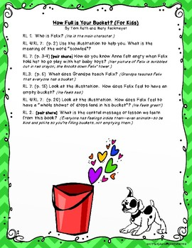 How Full is Your Bucket? (For Kids): Text-Dependent Questions and More!