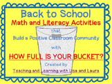 How Full is Your Bucket?  Math and Literacy Activities