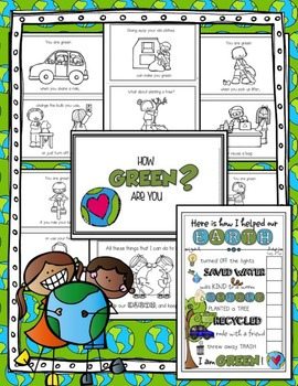 How GREEN Are You?  {An EARTH DAY Life Skills/Motivational Reader}