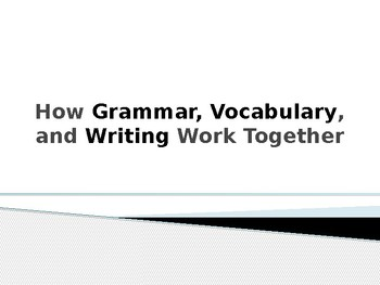 How Grammar, Vocabulary, and Writing Work Together