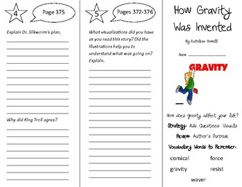How Gravity Was Invented Trifold - 5th Grade Literacy by Design Theme 11
