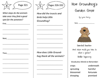How Groundhog's Garden Grew Trifold - Journeys 2nd Grade Unit 5 Week 5