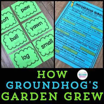 How Groundhog's Garden Grew  2nd Grade Lesson 25 (7 Centers) + Worksheets