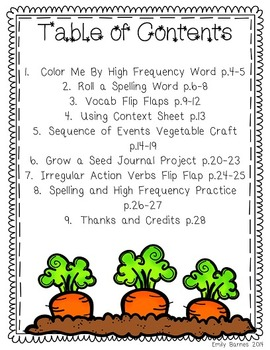 How Groundhog's Garden Grew Journeys 2nd Grade Supplement Activities Lesson 25