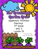 How Groundhog's Garden Grew Journeys 2nd Grade Supplement Activities Lesson 25