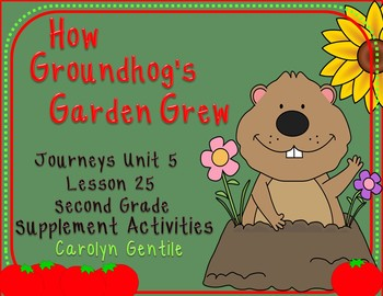 How Groundhog's Garden Grew Journeys Unit 5 Lesson 25 2nd Gr. Suppl. Mat.