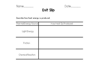 Heat Energy and Thermal Energy Powerpoint