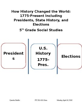 How History Changed the World: 1775-Present Including Presidents, State History.