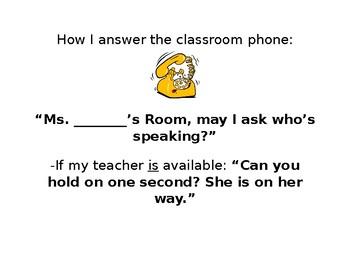 How I Answer the Classroom Phone