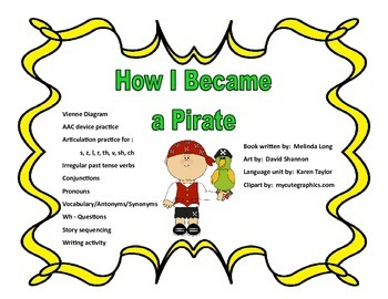 How I Became A Pirate, Speech/Language Narrative Unit, Spe
