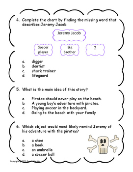 How I Became a Pirate Literacy Unit with Texas TEKS included