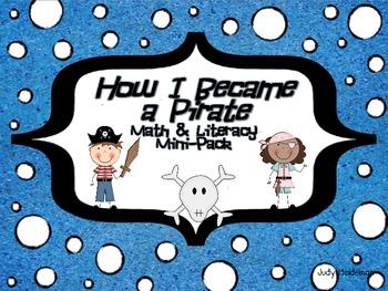 How I Became a Pirate Math & Literacy Mini-Pack