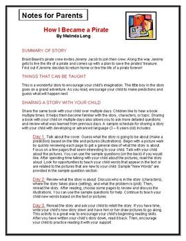 How I Became a Pirate Parent Notes