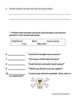 How I Became a Pirate Read Aloud Play with Assessment