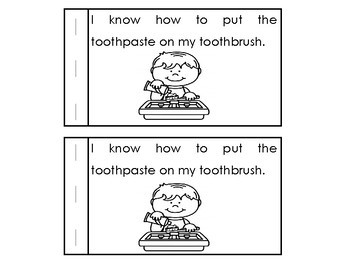How I Brush My Teeth Emergent Reader Dental Health