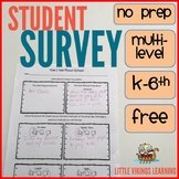 FREE Student Surveys for Conferences and Feedback