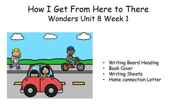 How I Go From Here to There, Writing Response for Wonders, Unit 8, Week 1