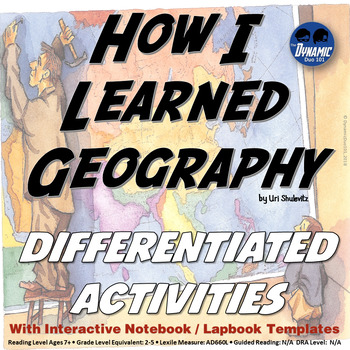 How I Learned Geography Interactive Notebook and Reading Activities