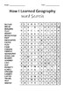 How I Learned Geography Word Search