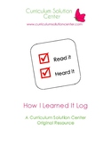 How I Learned it Log {Metacognition, Tracking, Goal Setting, Strategy Use}