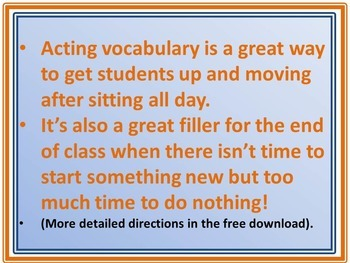 How to Run Acting Vocabulary so Students are Learning and Having Fun