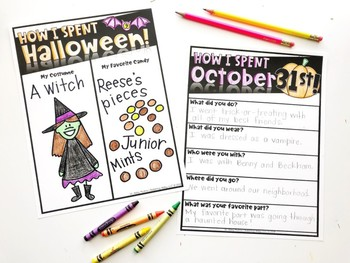 How I Spent Halloween Free Activity