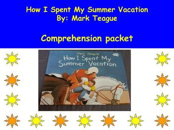 How I Spent My Summer Vacation: Book Study/Comprehension Questions