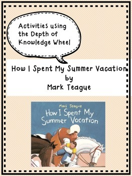 How I Spent My Summer Vacation - FIRST DAY OF SCHOOL ACTIVITY