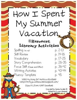 How I Spent My Summer Vacation (Supplemental Materials)