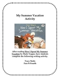 How I Spent My Summer Vacation Journal Activity