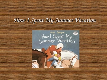 How I Spent My Summer Vacation Power Point