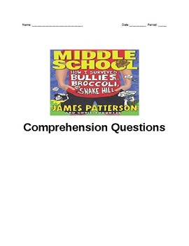 How I Survived Bullies, Broccoli and Snake Hill comprehension questions