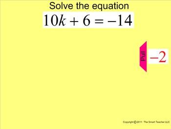 How I Teach 2 Step Equations