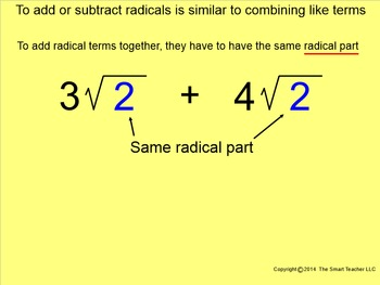How I Teach Adding & Subtracting Square Roots