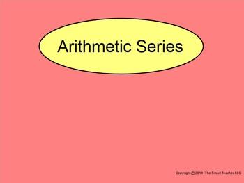 How I Teach Arithmetic Series