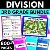 Division Strategies BUNDLE! - Division Worksheets Activities Games