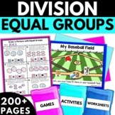 Division Equal Groups | Division Worksheets Activities Games