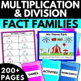 Multiplication and Division Using Fact Families - Activities Worksheets Games