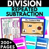 Division Using Repeated Subtraction - Division Activities Worksheets Games