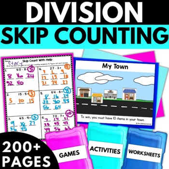 Division Using Skip Counting - Division Activities Worksheets Games