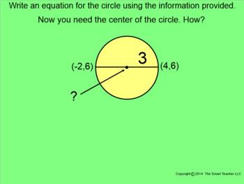 How I Teach Equation of a Circle Using the Smartboard