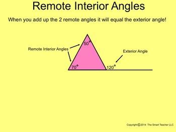 How I Teach Exterior Remote Interior Angles Using the Smartboard