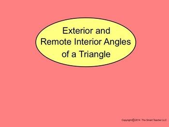 How I Teach Exterior & Remote Interior Angles Using the Smartboard