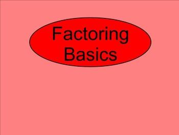 How I Teach Factoring Polynomials (Basic Factoring)