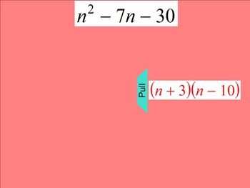 How I Teach Factoring Polynomials (Leading Coefficient is 1)